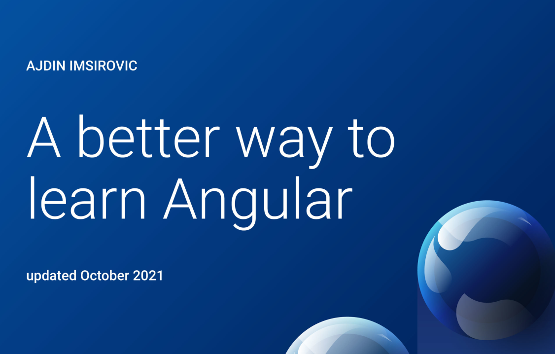 A Better Way to Learn Angular, book 1